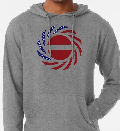 Latvian American Multinational Patriot Flag Series Lightweight Hoodie