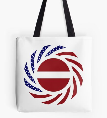 Latvian American Multinational Patriot Flag Series Tote Bag