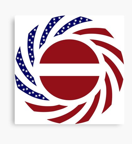 Latvian American Multinational Patriot Flag Series Canvas Print
