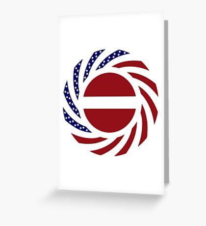 Latvian American Multinational Patriot Flag Series Greeting Card