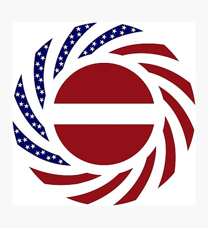 Latvian American Multinational Patriot Flag Series Photographic Print