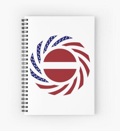 Latvian American Multinational Patriot Flag Series Spiral Notebook