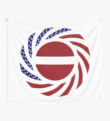 Latvian American Multinational Patriot Flag Series Wall Tapestry