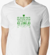 Motivation do not stop Men's V-Neck T-Shirt