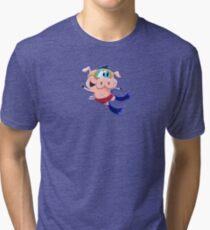Little Pig - Swim A Tri-blend T-Shirt