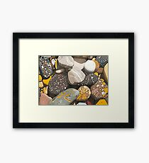 Mersey River (Tasmania) Stones. Framed Print
