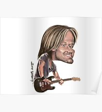 Keith Urban Caricature Poster