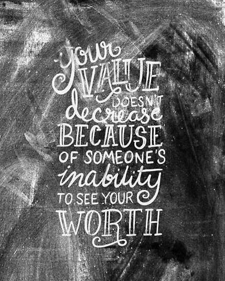 Your Value Inspirational Hand Lettered Quote Posters By Kit Cronk