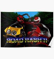 Road Rash 2 (Genesis Title Screen) Poster