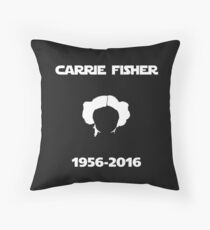 Carrie Fisher Memorial Throw Pillow