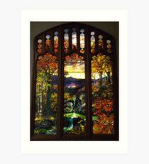 Tiffany Glass, Metropolitan Museum of Art, New York City Art Print