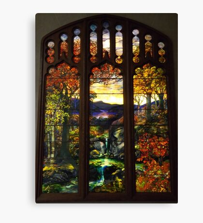 Tiffany Glass, Metropolitan Museum of Art, New York City Canvas Print