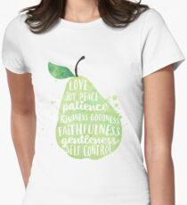 Fruit of the spirit watercolor pear Women's Fitted T-Shirt
