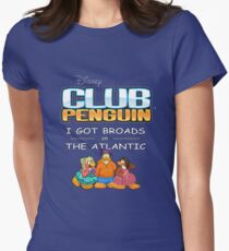 Club Penguin Panda / Broads in Atlanta  Womens Fitted T-Shirt