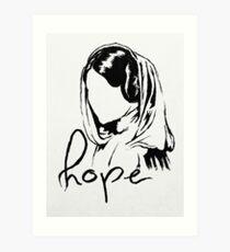 """Princess Leia """"hope"""" Art Print"""