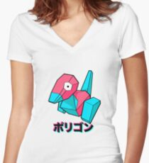 Porygon Women's Fitted V-Neck T-Shirt