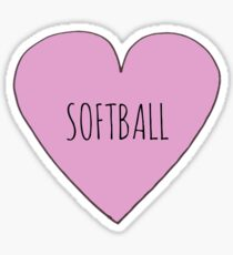 Softball Love Sticker
