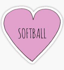 Softball Love Sticker