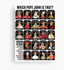 All the Pope Johns I - XXIII Canvas Print