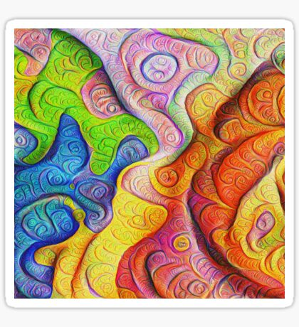 Color Cracks #DeepDream Sticker