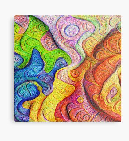 Color Cracks #DeepDream Metal Print