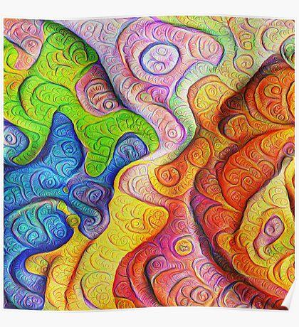 Color Cracks #DeepDream Poster