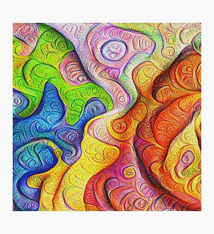 Color Cracks #DeepDream Photographic Print