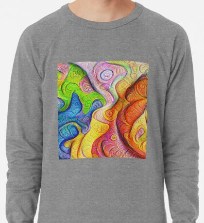 Color Cracks #DeepDream Lightweight Sweatshirt