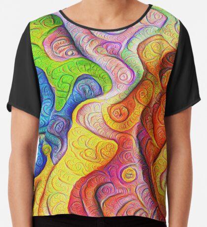 Color Cracks #DeepDream Chiffon Top