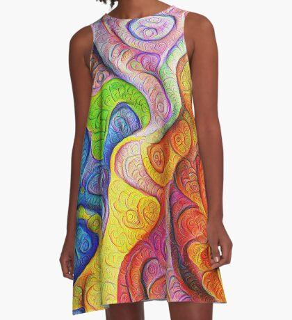 Color Cracks #DeepDream A-Line Dress