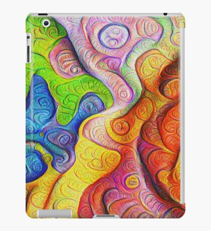 Color Cracks #DeepDream iPad Case/Skin