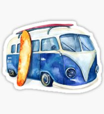 Volkswagen Kombi watercolor Sticker