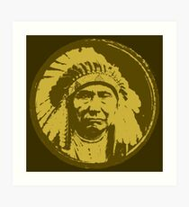 Vintage Native American Chief Art Print
