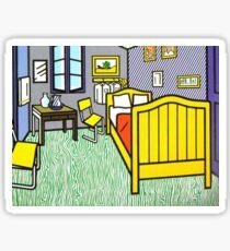 Lichtenstein's Bedroom at Arles Sticker