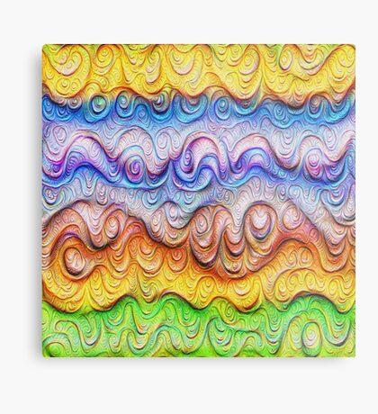 Tropical sea liquid lines and waves #DeepDream Metal Print