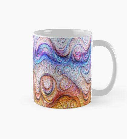 Tropical sea liquid lines and waves #DeepDream Mug