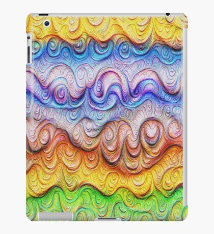 Tropical sea liquid lines and waves #DeepDream iPad Case/Skin