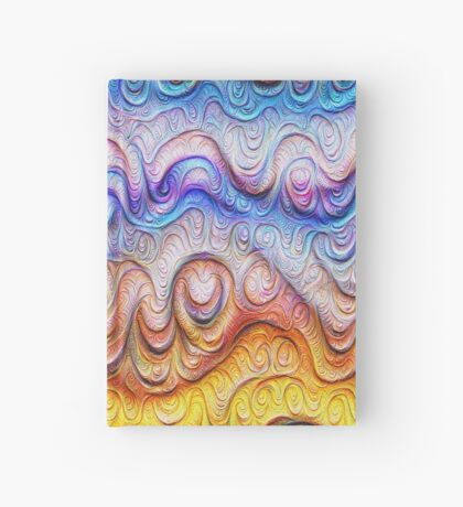 Tropical sea liquid lines and waves #DeepDream Hardcover Journal
