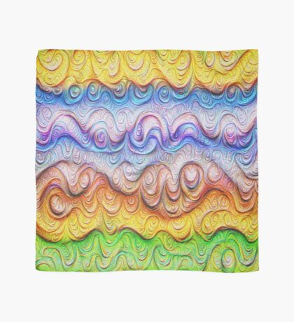 Tropical sea liquid lines and waves #DeepDream Scarf