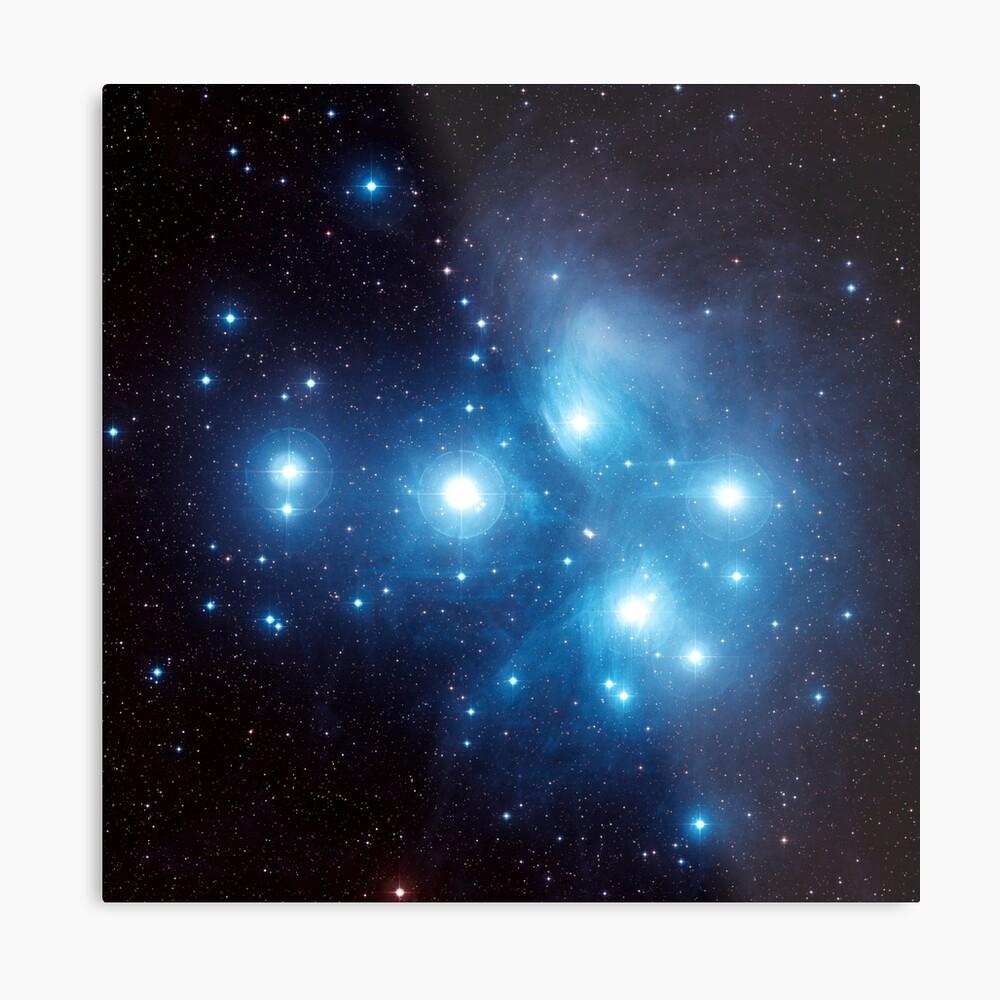 Cúmulo estelar de las Pléyades Lámina metálica