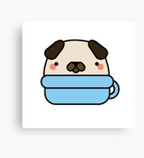 Cup of Pug Canvas Print