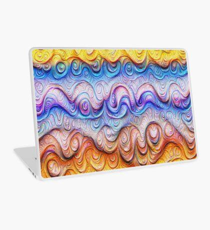 Tropical sea liquid lines and waves #DeepDream Laptop Skin