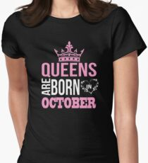 Queens are born in october T-shirt T-Shirt