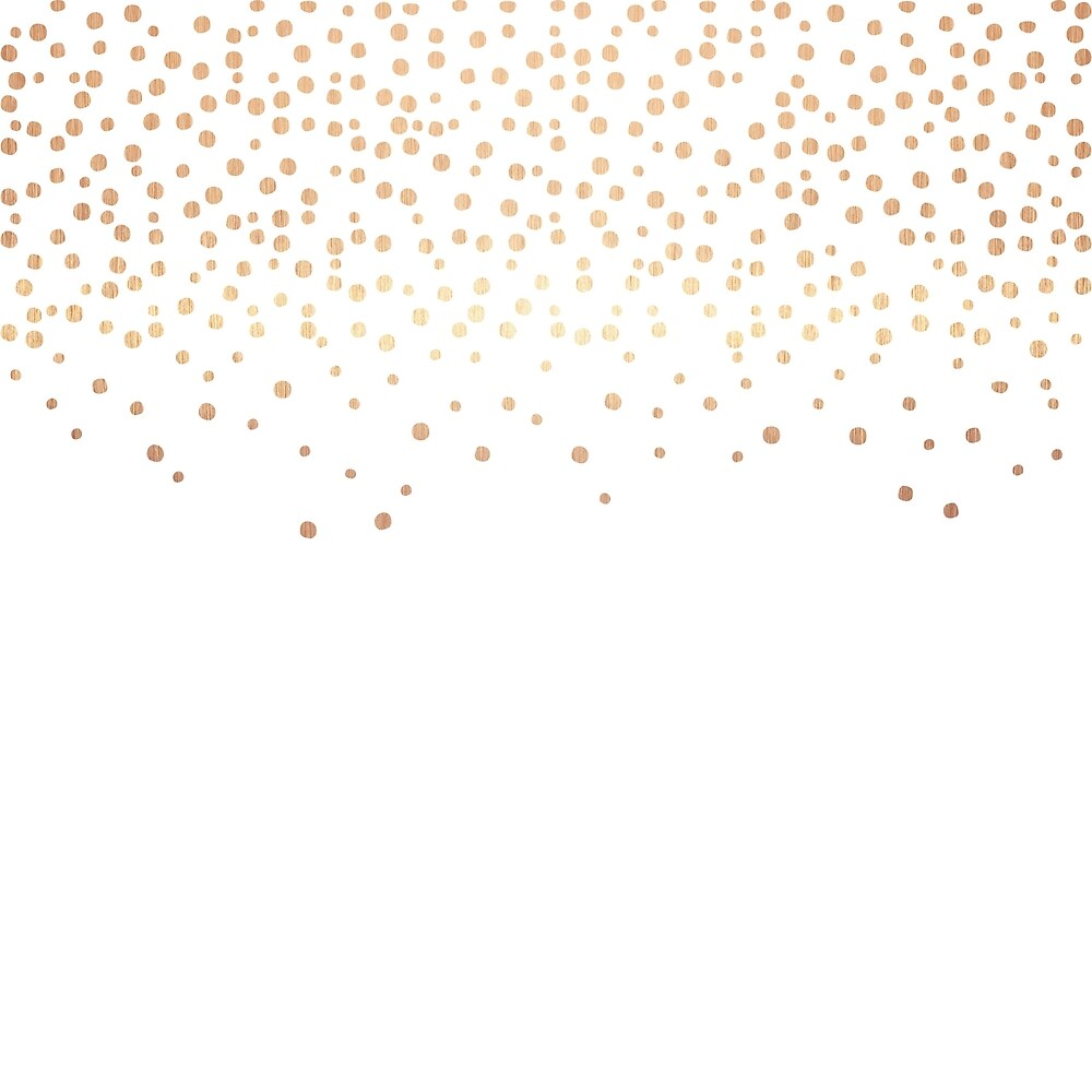 Quot Rose Gold Confetti Quot By Alexrow Redbubble