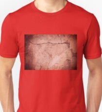 old cracked paint texture damaged wall T-Shirt