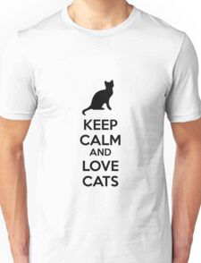 Keep calm and love cats Unisex T-Shirt