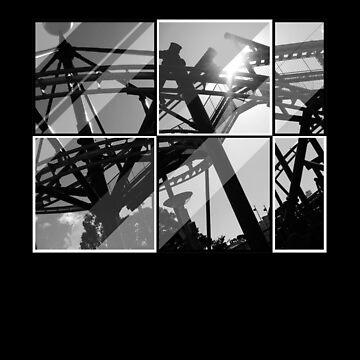 Roller coaster t-shirt by lana3210