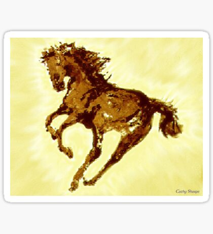 Running wild Horse Print Sticker