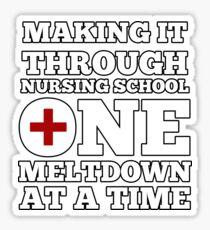 Making it through nursing school Sticker