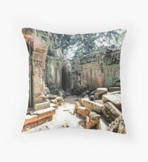 Ruins in Siem Reap Throw Pillow